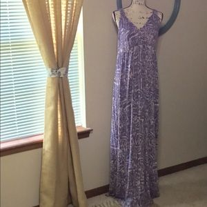 Pretty CAbi maxi dress is lightweight and comfy.